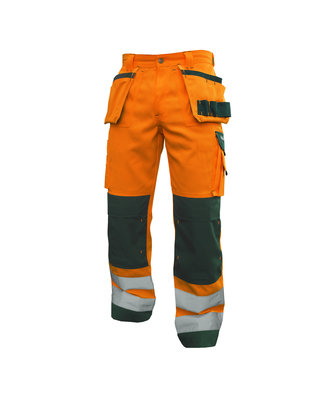 Dassy Glasgow hoge zichtbaarheidmultizakkenbroek met kniezakken