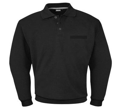 Sweatshirt met polo kraag